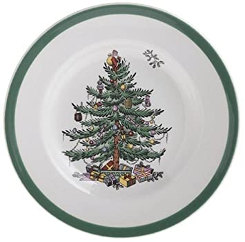 #!Cheap Spode Christmas Tree Bread and Butter Plate