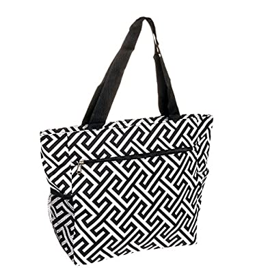 Womens Large Print Beach Tote Shopper Weekender School Gym Travel Bag