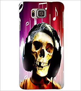 PrintDhaba Skull D-2958 Back Case Cover for SAMSUNG GALAXY ALPHA (Multi-Coloured)