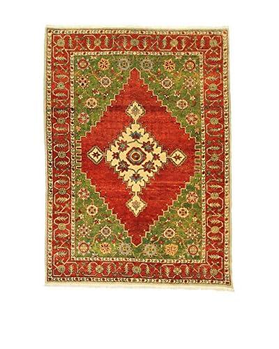 L'Eden del Tappeto Teppich Atzeri rot/grün 238t x t172 cm