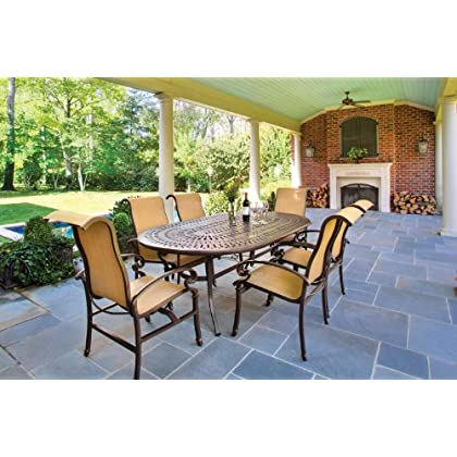 Kerrington Patio Dining Set (7 Piece, Sling, Cast Aluminum) by La-Z-Boy Outdoor