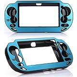 Aluminium Metall Schutz Hülle Hard Cover Etui Case für Sony PS Vita PSV Blau