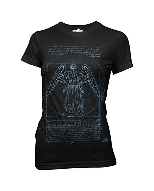 Amazon.com: Doctor Who Vitruvian Weeping Angel Juniors T-shirt: Movie And Tv Fan T Shirts: Clothing