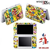 POKEMON WORLD Vinyl Skin Sticker For Nintendo 3DS XL Console Vinyl Skin Cover In A Retail Pack. Ready For Fast 1st Class UK Post.