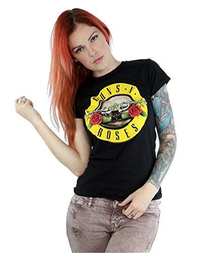 Guns N Roses Donna Bullet Logo Maglietta X-Small Nero