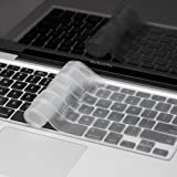 "Kuzy - Transparent-CLEAR Keyboard Cover for MacBook Pro 13"" 15"" 17"" (with or w/out Retina Display) Silicone Skin iMac and MacBook Air 13"" - Transparent-CLEAR"