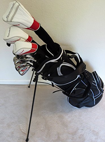 TaylorMade Men's Regular Flex Golf Set with Stand Bag (Taylor Made Driver Set compare prices)