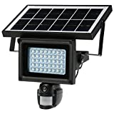 KKmoon 40 IR LEDS Solar Floodlight Street Lamp 720P HD CCTV Security Camera DVR Recorder PIR Motion Detection Solar Energy Charge Built-in Lithium Battery Support PC-CAM TF Card