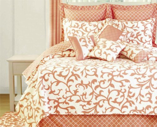 Coral Colored Bedding Sets front-1035328