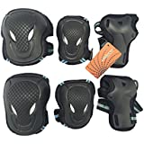 eNilecor Adult and Children kid Skateboard Roller Blading Elbow Knee Wrist Protective Gear Pads Safety Gear Pad Guard for Skateboard Cycling Roller Skating and outdoor sport S M L in 2 Color