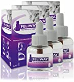Feliway Diffuser Refill for Cats, 144-Milliliter, 3-Pack