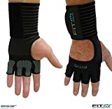 The Spartan Grip - with Enhanced Silicone Palm | Fit Four Callus Guard Workout Gloves for Weight Lifting & Cross Training Athletes (Grip, Extra Large)