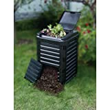 Tierra Garden 9496 80-Gallon (300L) Composter,Made of 90-Percent Recycled Material (Color: Black, Tamaño: 25L x 25.6W x 39.4H in.)