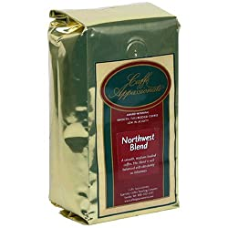 Caffe Appassionato Northwest Blend Ground Coffee 12-Ounce Bag (Pack of 3) by Caffe Appassionato