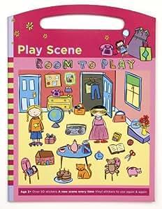 Mudpuppy Room to Play Play Scene Sticker Set