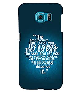 PRINTSWAG TEXT Designer Back Cover Case for SAMSUNG GALAXY S6 EDGE