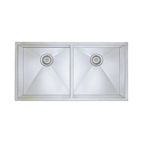 Blanco 516212 16-Inch Precision Large Equal Double Bowl Undermount Sink, Stainless Steel