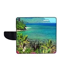 KolorEdge Printed Flip Cover For Lenovo S850 -Multicolor (50KeMLogo11410LenovoS850)