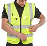 B-Seen EN471 Sat Yellow Exec Vest XXL