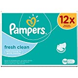 Pampers Feuchttücher Fresh Clean 12-Monatspack, 768 Tücher (12 x 64 Stück)