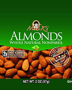 Madi Ks Whole Natural Almonds 2-ounce Bags Pack Of 36 from Madi K's