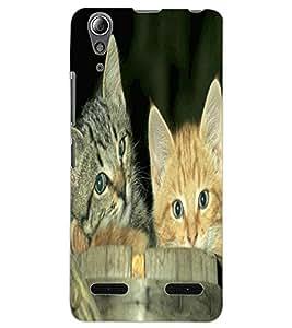ColourCraft Cute Kittens Design Back Case Cover for LENOVO A6000