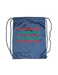 Festive Threads Christmas Drawstring Backpack