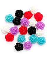 20 Roses en 3D Décorations Pierres Fleurs tranches Nail Art Manucure Premium par Cheeky®
