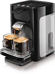 Philips HD7863/60 Senseo Quadrante Kaffeepadmaschine (Senseo Kaffeebrühsystem, XL Wasser tank , 1450 Watt) klavierlack schwarz