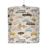 Sweet Potato Traffic Jam Hanging Drum Shade, Cars
