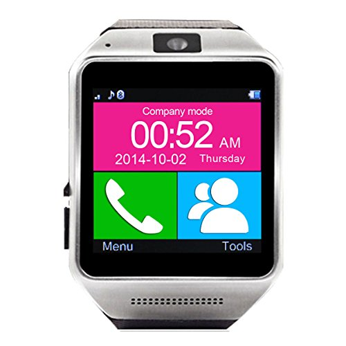 Generic Bluetooth Smart Watch WristWatch Phone Mate(Black)