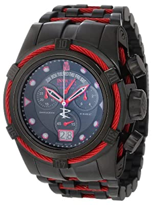 Jason Taylor for Invicta Collection 12950 BOLT Zeus Black Ion-Plated Chronograph Watch