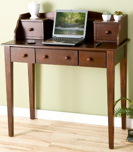 Buy Low Price Comfortable Espresso Finish Computer Secretary Writing Desk (B002V3D5EC)