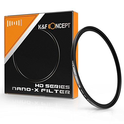 UVフィルター 52mm、K&F Concept 保護フィルター 52mm プロテクター UVレンズフィルター レンズ保護用と紫外線吸収用 撥水・撥油コーティング 16層マルチコート ドイツ光学ガラス製MCUV 超薄型 HD Nano-X MRC UV