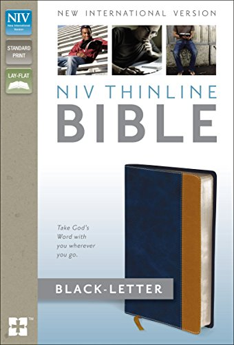 Holy Bible: NIV Blue/Tan Italian Duo-Tone, Thinline Bible