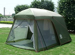 2 rooms Family Cabin Outdoor tents waterproof double-layer by SY