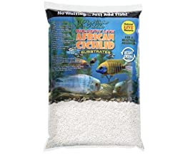 African Cichlid Substrates Bio-Activ Live Cichlid Sand for Aquarium, 20-Pound, Natural White