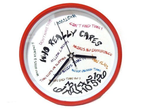 Who Really Cares Wall Clock