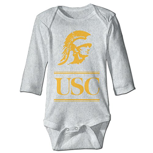 NINJOE Babys Usc Trojans Football Long Sleeve Romper Bodysuit Outfits Ash 18 M