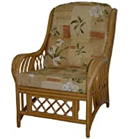 Replacement Cane Chair Cushions Only Wicker Rattan Conservatory Furniture by Gilda® (Poppy Natural) by Gilda Ltd