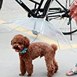 Yunt Transparent Waterproof Pet Dog Umbrella Raincoat With Leash, Keep Pet Happy and Comfortable in Rainy Days