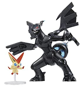 Pokemon Plamo Collection (Pokebla) Plastic Model Kit / Modellbausatz Figuren Set: Victini and the Black Hero Zekrom (zum Zusammenstecken)