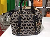 Michael Kors Bedford MD Satchel MK Signature Jacquard