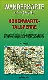 Wanderkarte Hohenwarte-Stausee: Mit Könitz, Ranis, Knau, Ziegenrück, Burgk, Drognitz, Reitzengeschwenda, Leutenberg. Mit Radrouten. Maßstab 1:30.000.