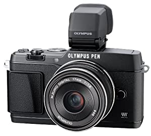 Olympus E-P5 16.1 MP Compact System Camera with 3-Inch LCD and 17mm f/1.8 Lens (Black)