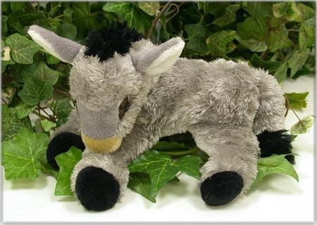 "Wishpets 9"" Lying Donkey Plush Toy - 1"