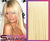 24 inch Lightest Blonde (60). Full Head. Clip in Human Hair Extensions. High quality Remy Hair!. 120g Weight   Pure Form 21 Blend