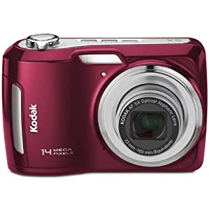 Kodak Easyshare C195 Point & Shoot Camera with 14MP, 5x Optical Zoom and 3 inch Screen (Red)