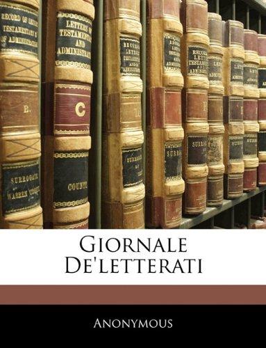 Giornale De'letterati