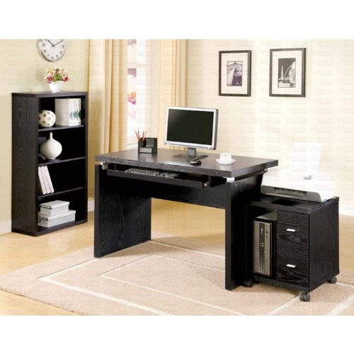 Buy Low Price Comfortable Black Finish Computer Desk (B003XRACUA)